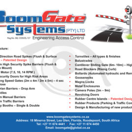 Advert for Boomgate Systems
