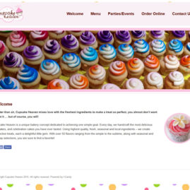 Website for Cupcake Heaven
