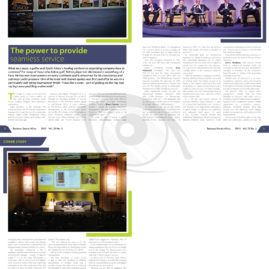 Layout for Business Events Africa magazine
