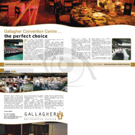 Layout for Southern Africa Conference, Exhibition & Events Guide magazine