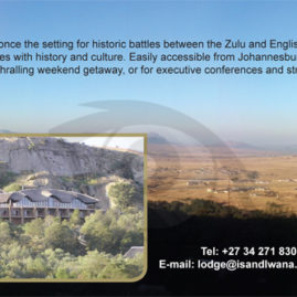 Advert for Isandlwana Lodge