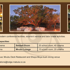 Advert for Mabula Game Lodge