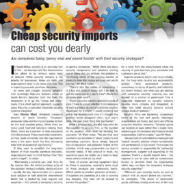 Layout for Security Focus magazine