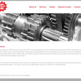 Website for P&P Industrial Services