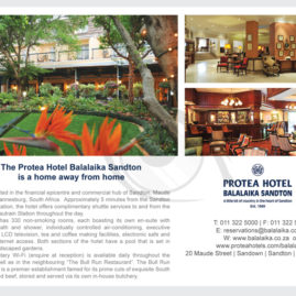 Advert for Protea Hotel Balalaika