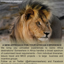 Advert for Somewhere in Africa