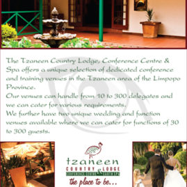 Advert for Tzaneen Country Lodge