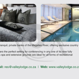 Advert for Valley Lodge & Spa